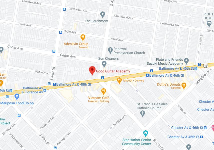 Map of Good Music Academy in Philadelphia