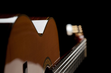 Stock Photo of a Classical Guitar