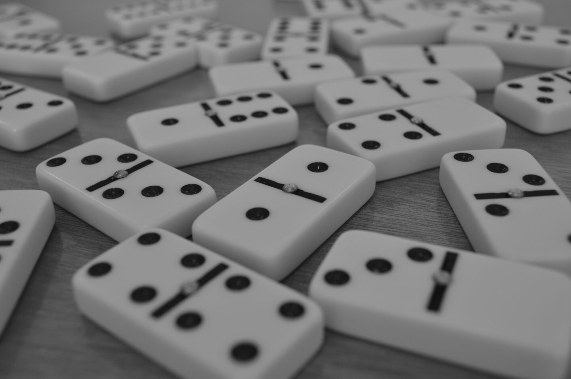 A bunch of dominos, which can be used to play games with children while practicing music