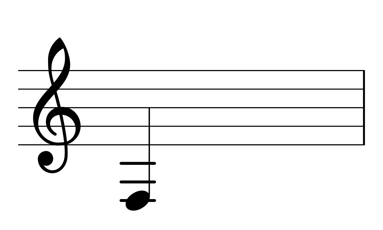 F2 on the treble clef