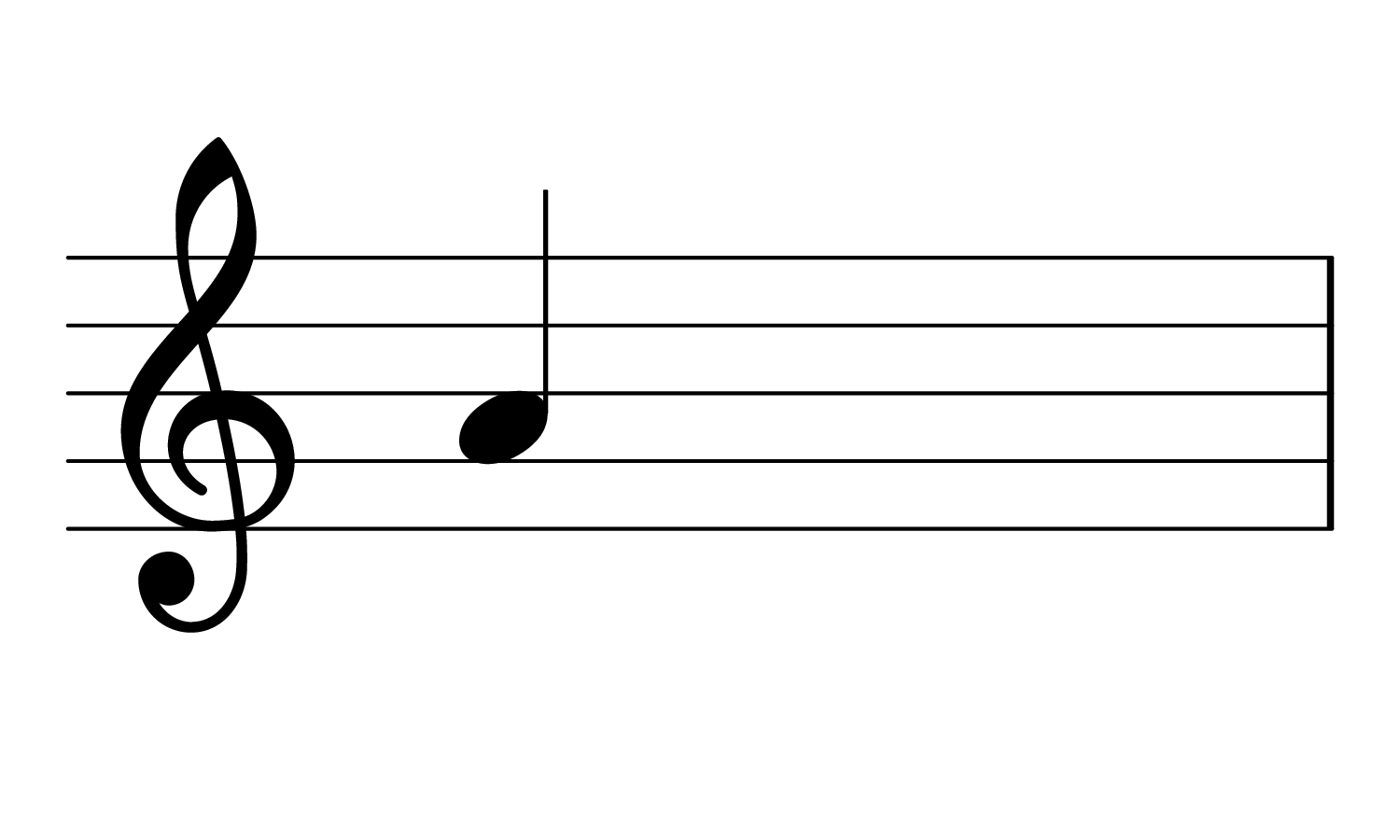The note A on the treble clef.