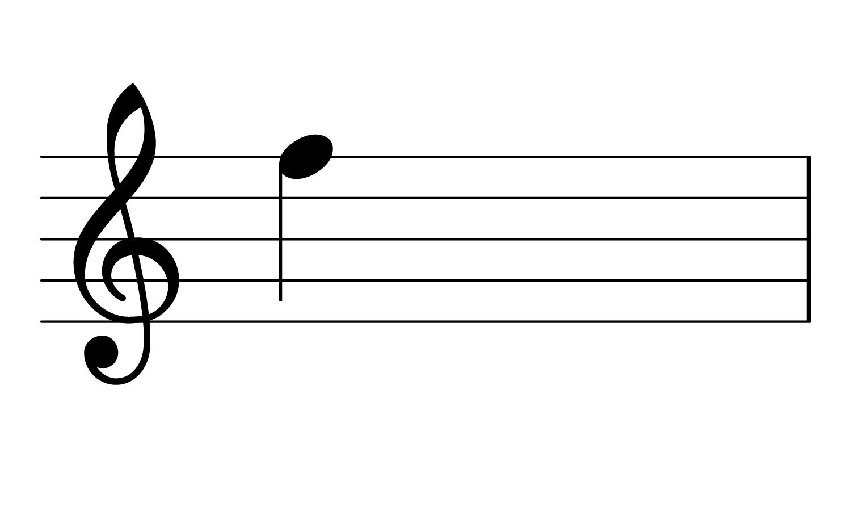 F4 on the treble clef.