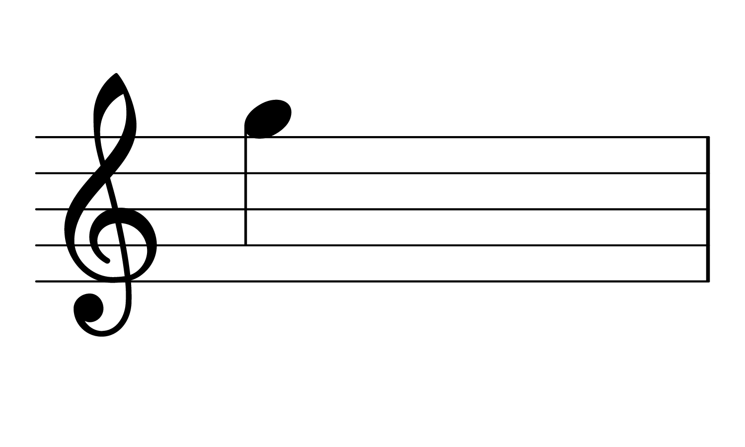The note High G on the musical staff.