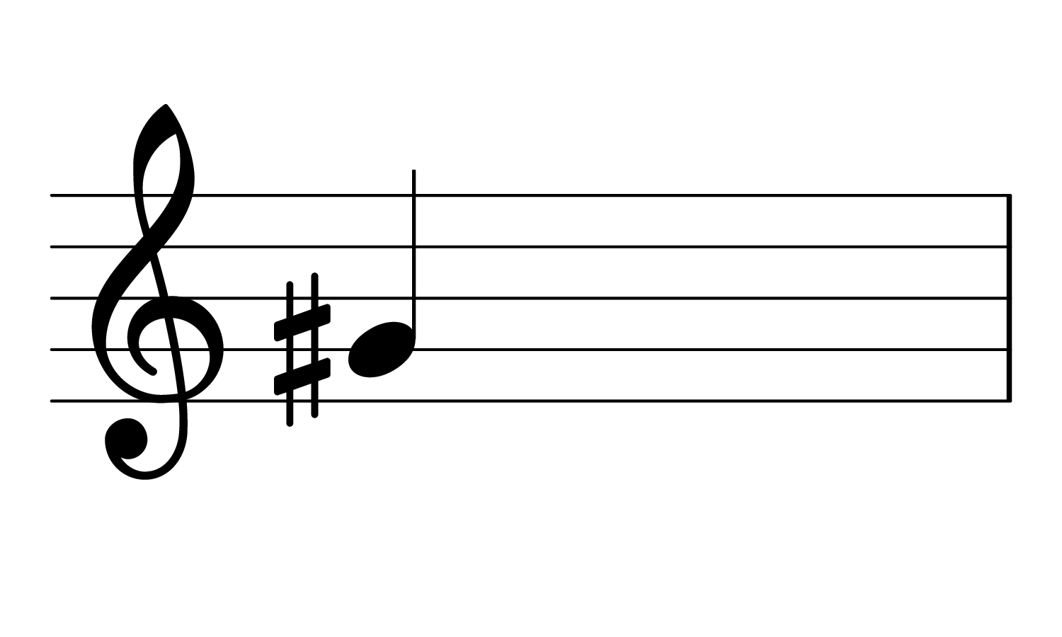 Treble clef with G♯3