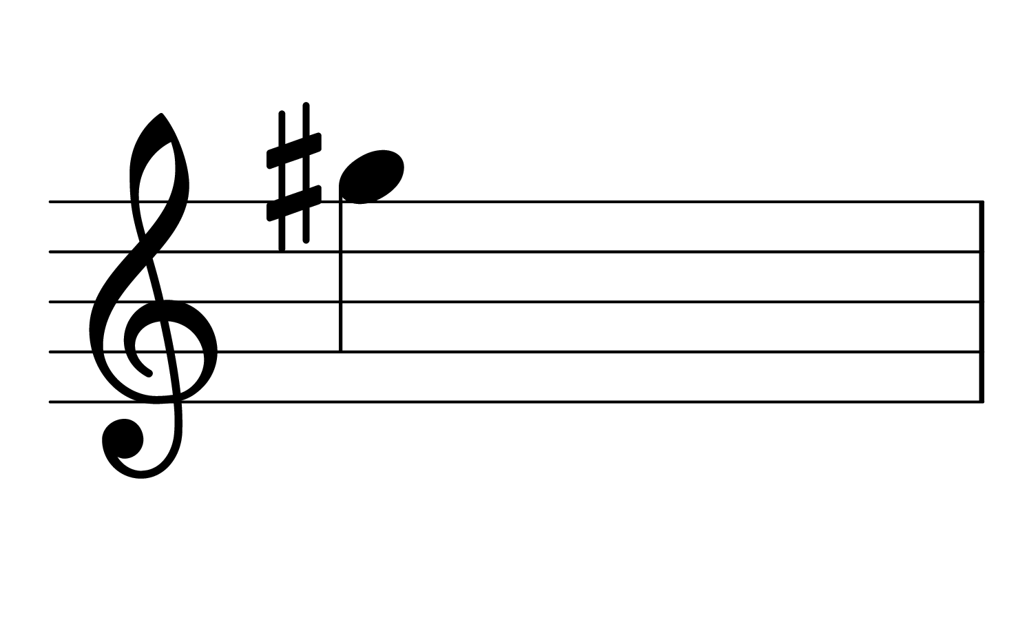 Treble clef with note G♯4
