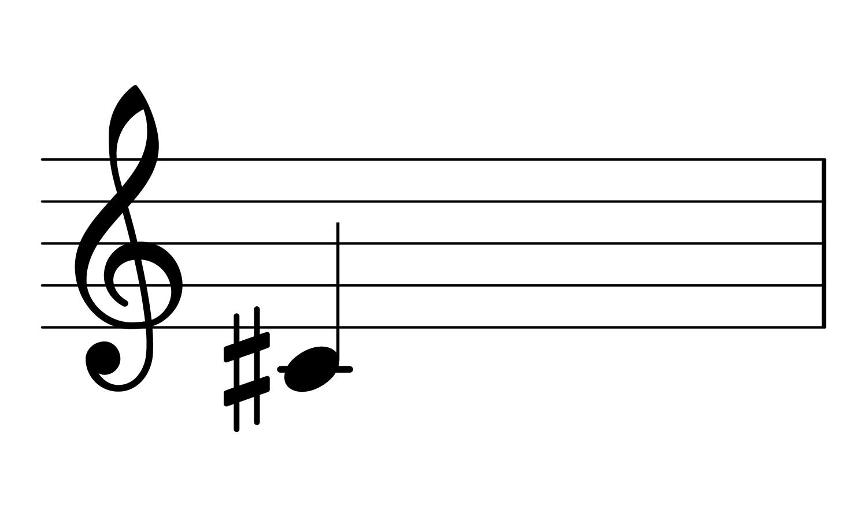 C#3 on the treble clef